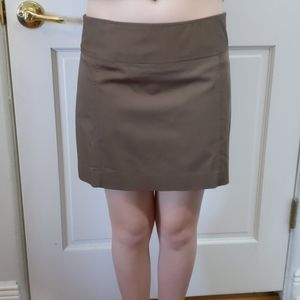 Express brown mini skirt